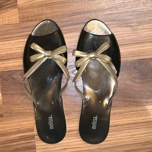 Melissa Flip Flops with Bow Detail